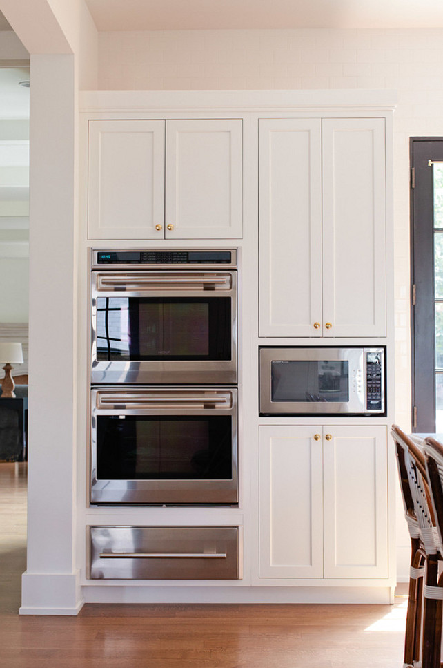 Kitchen oven cabinet design kitchen with two ovens warmer drawer and