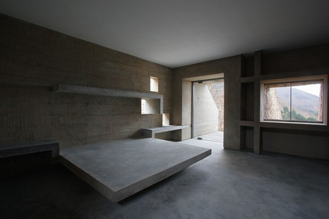 This Is A Bedroom The Concrete Bed Very Common Actually You Just
