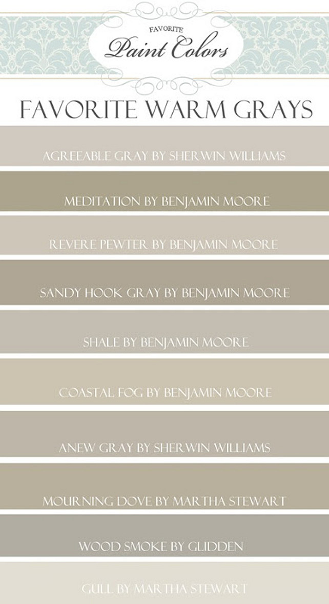 Paint Color Palette Warm Grays Agreeable Gray By Sherwin Williams Meditation Benjamin