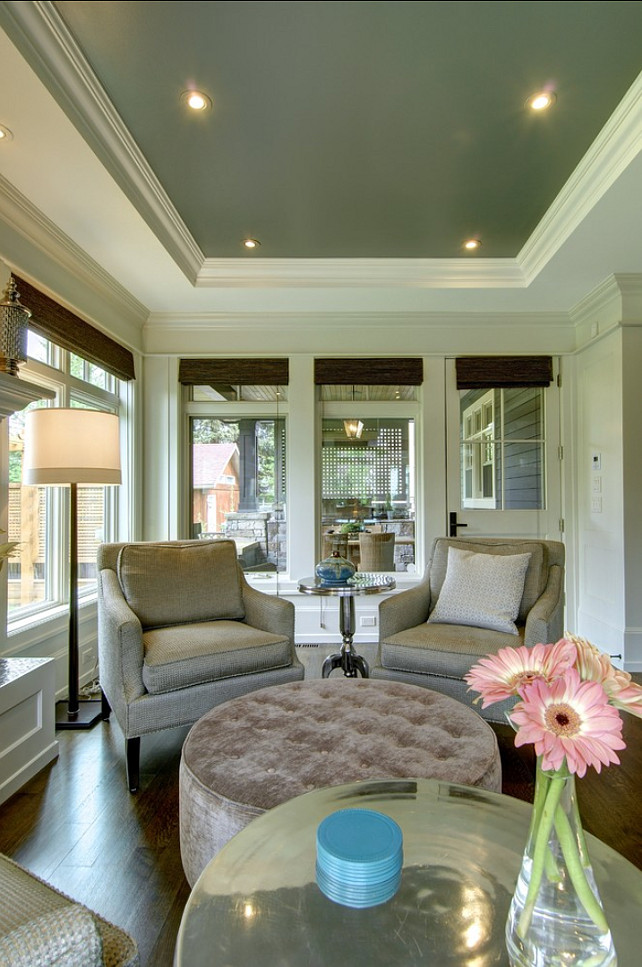 Painted Ceiling Ideas. Tray Ceiling Paint Color Ideas. #CeilingPaint