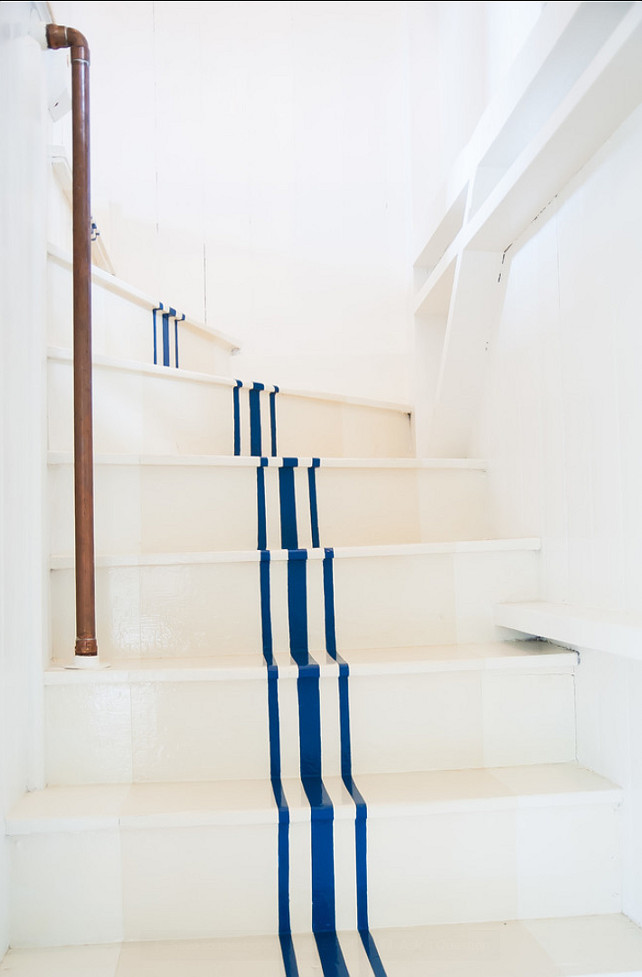 Painted Stairs. DIY Painted Stairs Steps. #DIYProjects #PaintedStaircase #Staircase