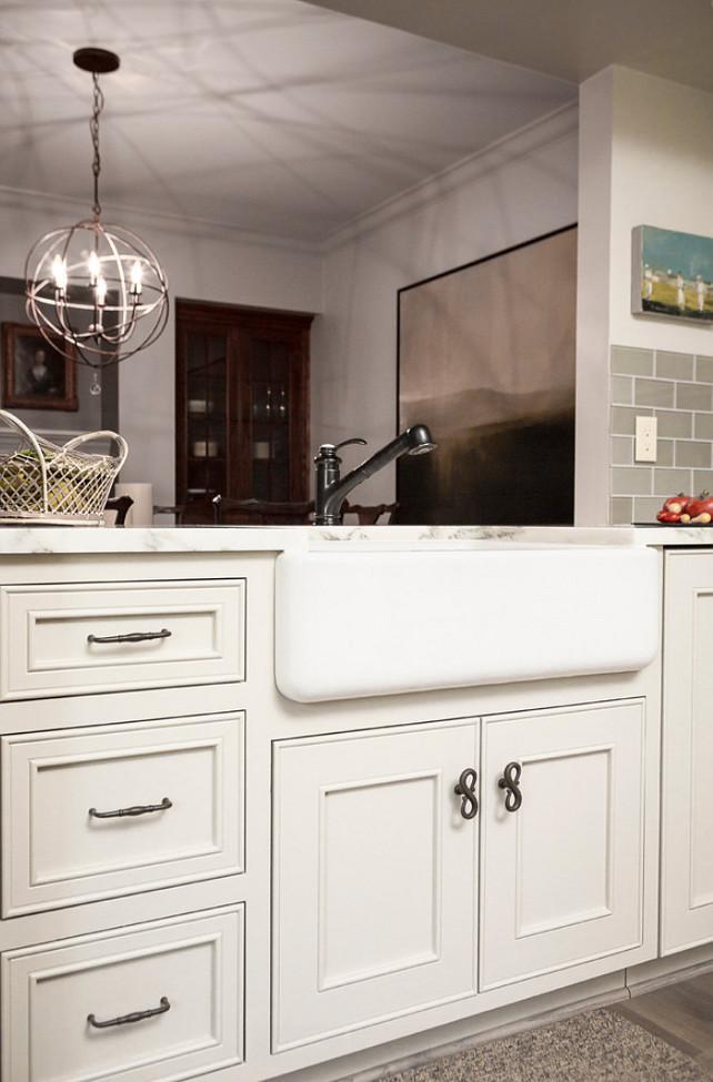 Pale Gray Kitchen Cabinet Paint Color #PaletGrayKitchen #PaintColor  Scovell Wolfe & Associates, Inc