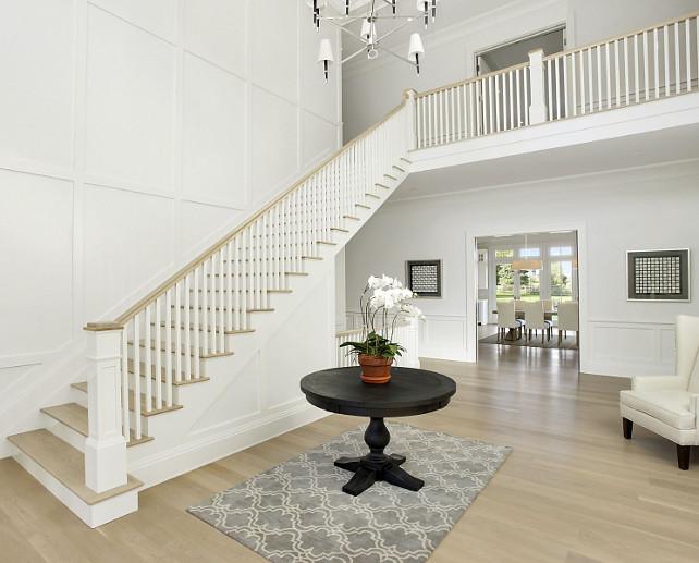 Paneled Foyer. Foyer paneling. Paneled Foyer - Traditional - Staircase. #Foyer #Paneling #Staircase Sotheby's Homes.