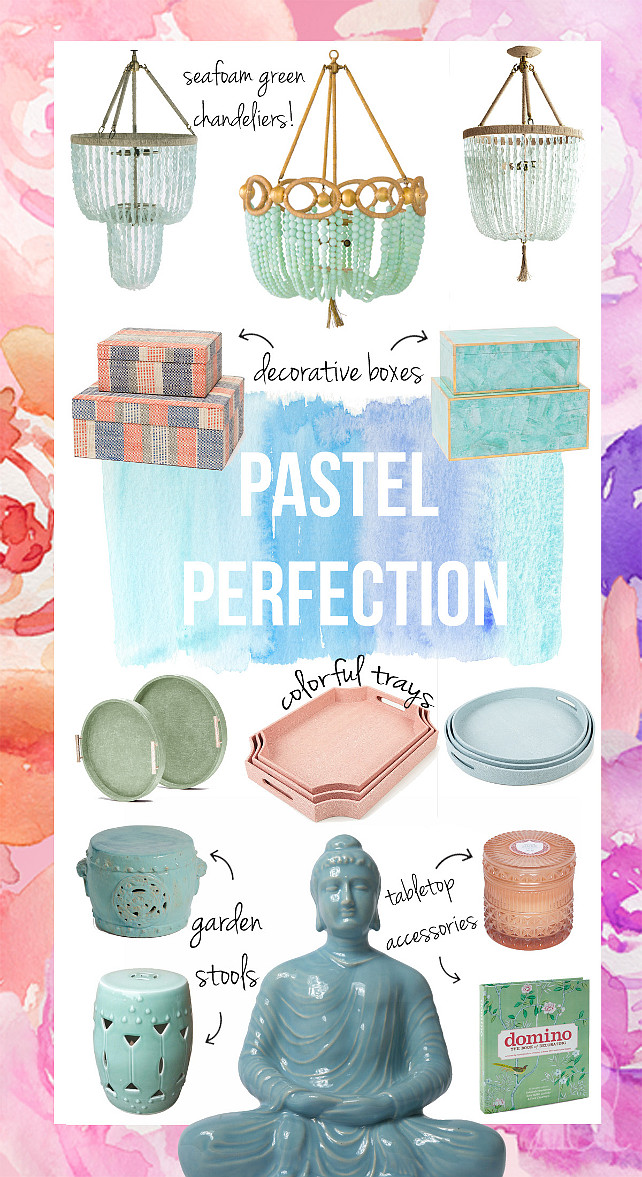 Pastel Decor. How to decorate with pastels. Pastel Decor Ideas. #Pastels #PastelDecor Blackband Design.