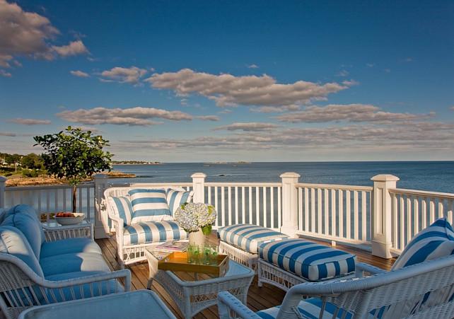 Patio Decor. Coastal Patio Furniture. Coastal Patio Decor Ideas. #Patio #Coastal #CoastalPatioDecor Anita Clark Design.