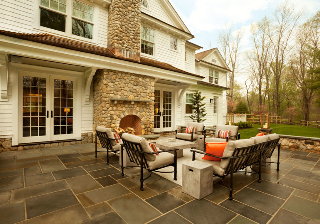Patio Fireplace. Patio Outdoor Fireplace Design. #PatioFireplace #OutdoorFireplace