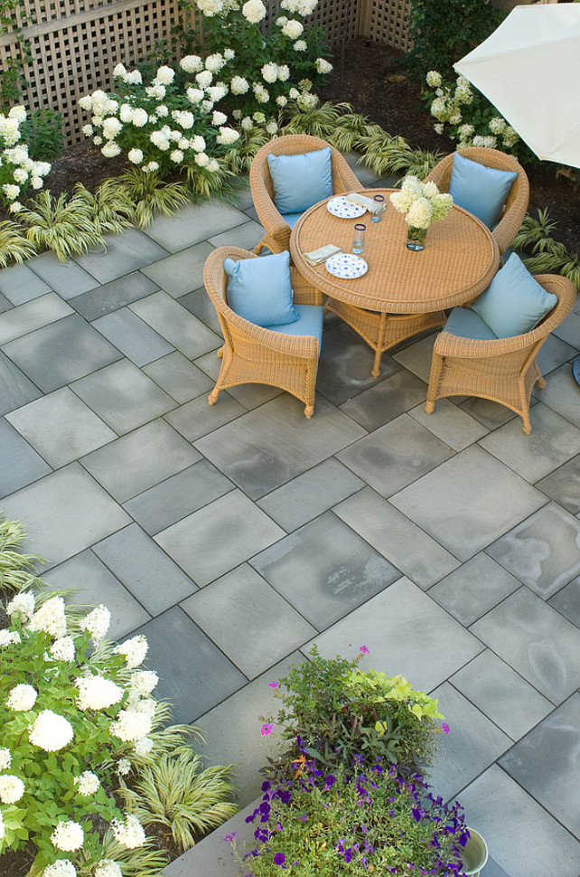 Patio Furniture Ideas. Small Patio Ideas. Small Patio Furniture Ideas. Small Patio. Patio Flooring is bluestone. #Patio #PatioFurniture #SmallPatio  Westover Landscape Design, Inc.