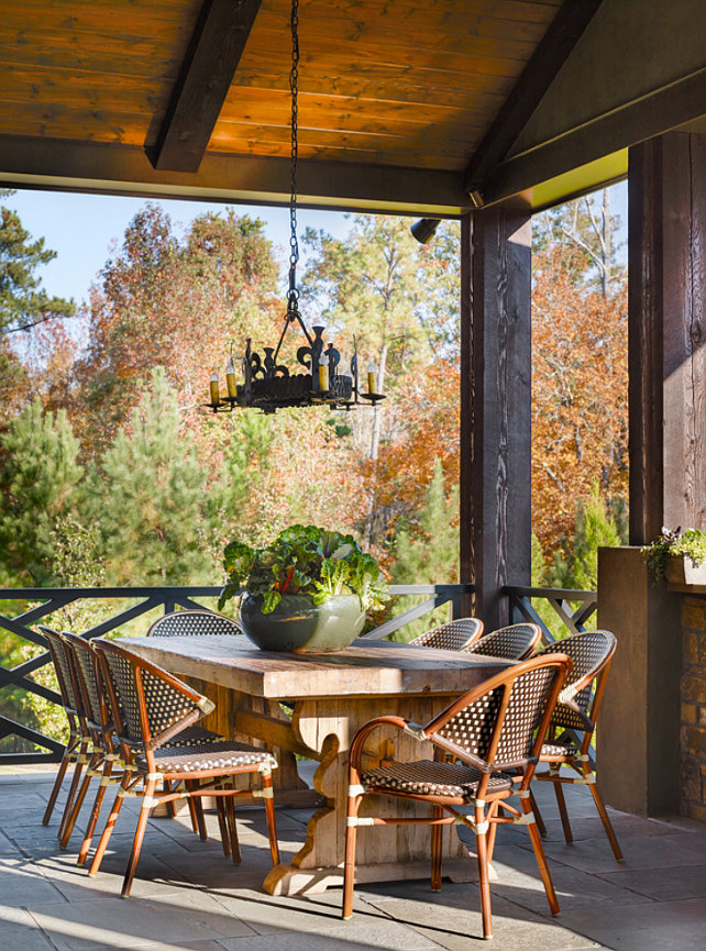 Rustic Patio. Patio Furniture #PatioFurniture Chenault James Interiors.