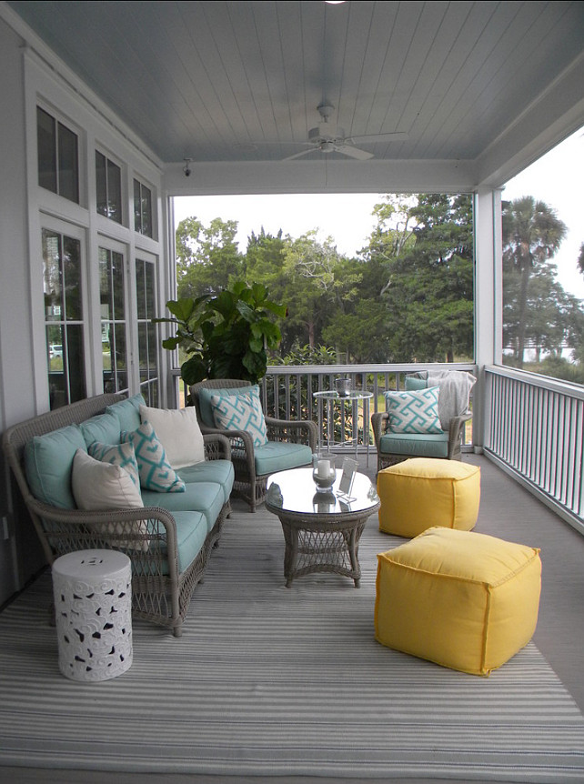 Beach House with Colorful Interiors - Home Bunch Interior ... on Patio Designs Images  id=67341