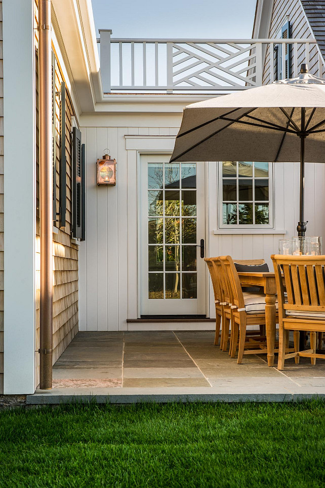 Patio Ideas. The back patio is just off the kitchen, making it easy to prepare meals indoors and transfer everything to the table outside. #patio