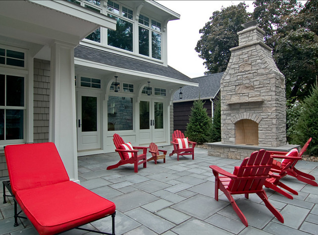 Patio Ideas. Wonderful patio and outdoor fireplace. #Patio #Fireplace