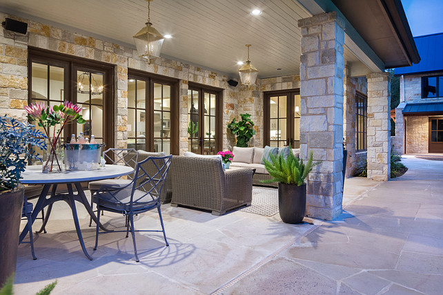 Patio Lantern Lighting. Patio Lantern Pendant Lighting. Martha O'Hara Interiors.