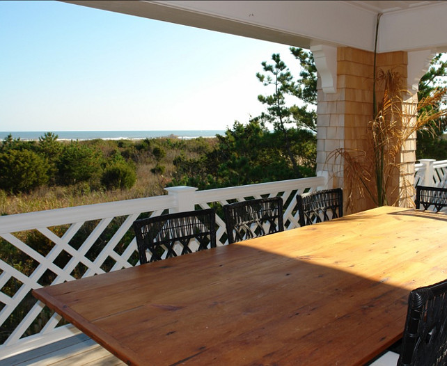 Patio with Ocean View. Beach Cottage with a patio with ocean view. This one is a winner! Peter Zimmerman Architects.