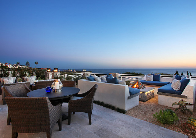 Patio. Beach inspired patio. Beach inspired patio decor. Beach inspired patio furniture. #Beachinspired #patio Spinnaker Development.