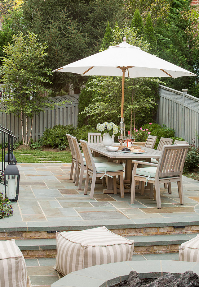 Family home with neutral interiors home bunch interior - Backyard patio ideas stone ...