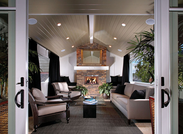 Porch. Great porch with outdoor fireplace. #Porch