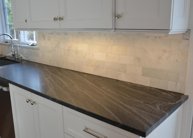 Perimeter Granite Countertop - Jet Mist - honed - Jet Mist Granite #Granite #JetMist #Honed #Countertop #BlackGranite #GrayGranite #Perimeter  Andrea Korzon Interiors, LLC.
