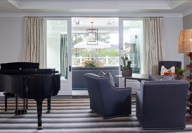 Piano Room. Piano Room Design. Music Room #PianoRoom #PianoRoomDesign