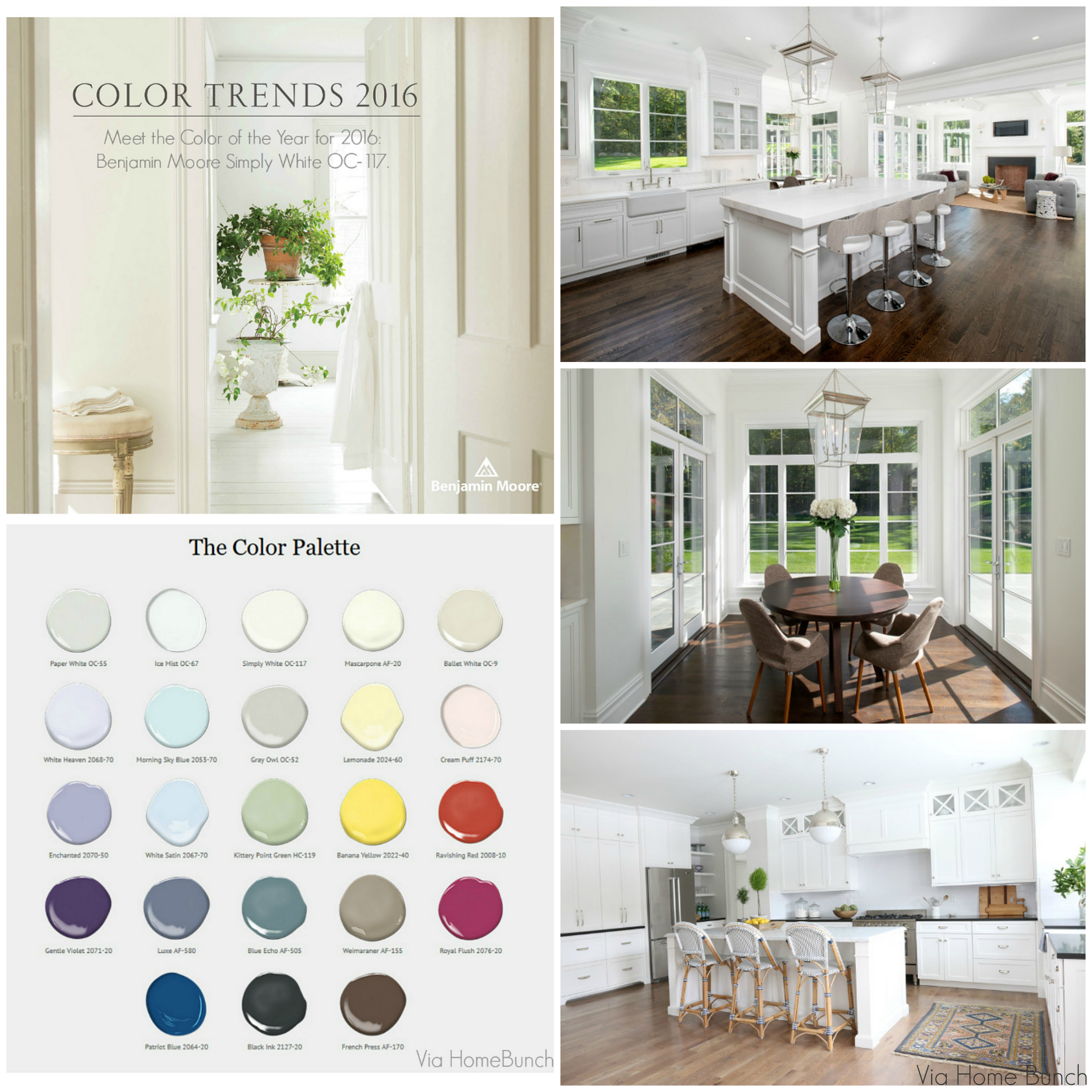 Benjamin Moore Color Of The Year 2016 Simply White Color Trends Interiors Home Bunch Interior Design Ideas