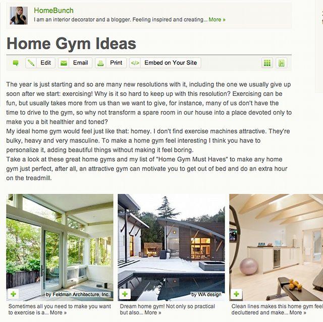 Interior Design Ideas For Home Gym: Home Gym Ideas & A Beautiful Home
