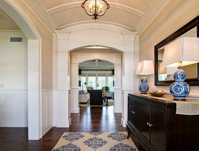 The Blue Medallions Rug Is By Horchow And The Lamps Are Ralph Lauren.