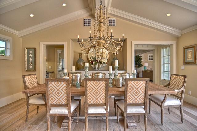 Интерьер столовой в доме фото