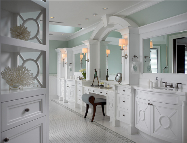 Bathroom Cabinety. Great ideas for bathroom cabinetry. #Bathroom #Cabinetry #Interiors