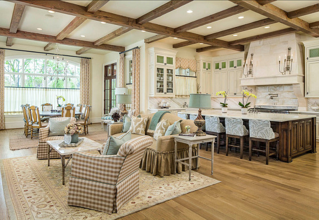 Family Room Open To Kitchen Design Ideas Great