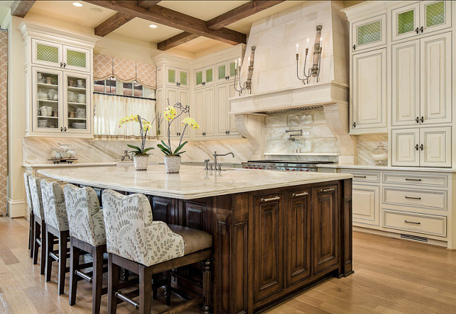 Traditional French Kitchen. French Traditional Kitchen Design. The  Countertop And Backsplash Are Both Marble