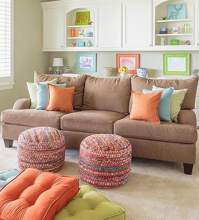 Colorful Playroom: Family Home Interior Design Ideas