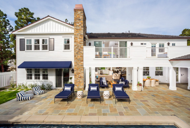Pool Backyard with stone patio. #pool #Backyard #stone #Patio Legacy Custom Homes, Inc.