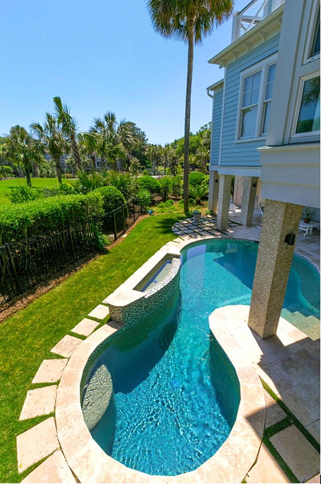 Isle of Palms Home Renovation - Home Bunch Interior Design ... on Backyard Pool Decor Ideas id=65599