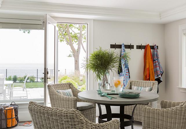 Pool House Interiors #Pool #PoolHouse #PoolHouseInteriors Anita Clark Design.