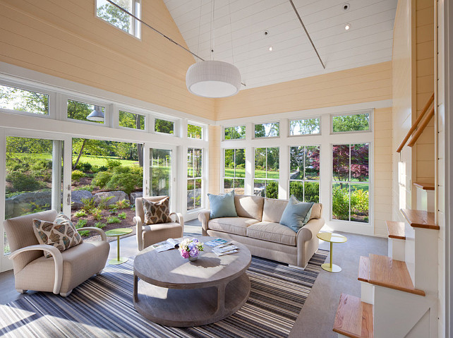 Southern home with neutral interiors home bunch interior for Interior pool house designs