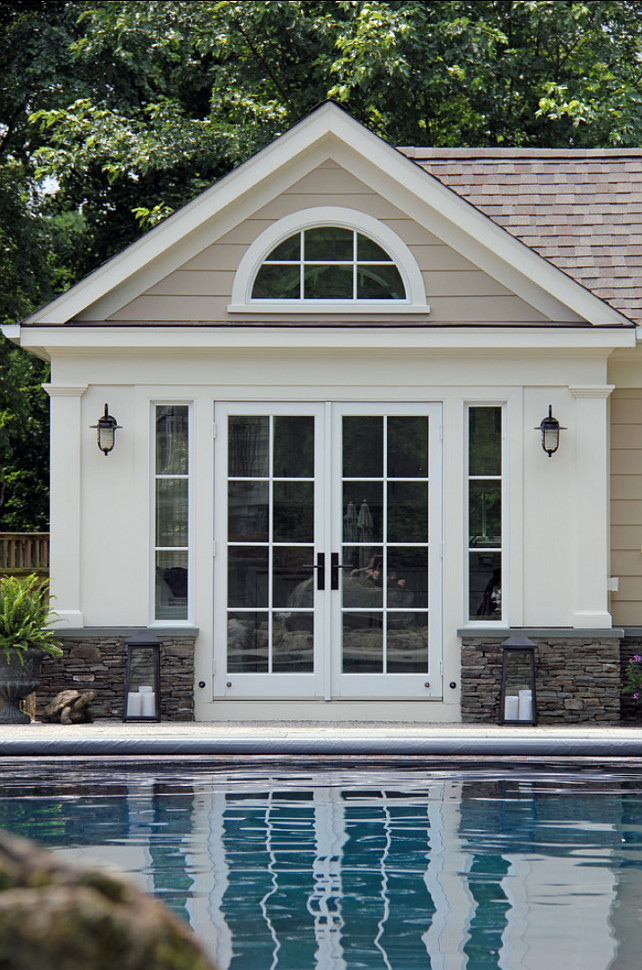 Pool House. Beautiful Pool House Design. #PoolHouse