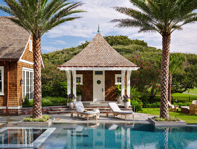 Pool House. Pool and Pool House Ideas. #PoolHouse #Pool Andrew Howard Interior Design.