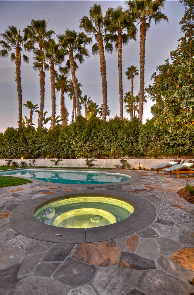 Pool Ideas. Beautiful backyard with pool and spa. #Pool #PoolIdeas #backyard