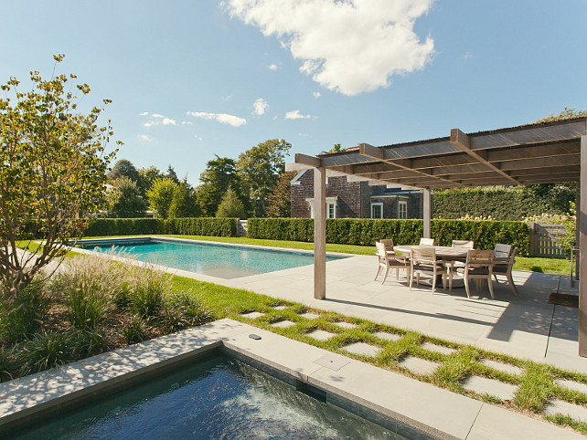 Pool and Spa. Backyard with pool and separate spa. #Pool #Spa #Backyard  Via Sotheby's Homes.
