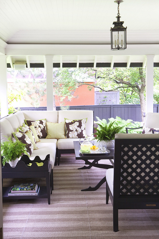 Porch Decorating Ideas. How to decorate, furnish and layer your porch. #Porch Anne Hepfer Designs.