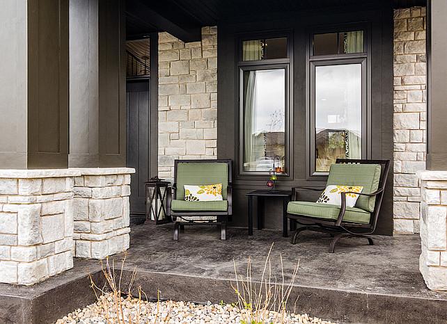 Porch Decorating Ideas. Relaxed front porch decor. #PorchDecor