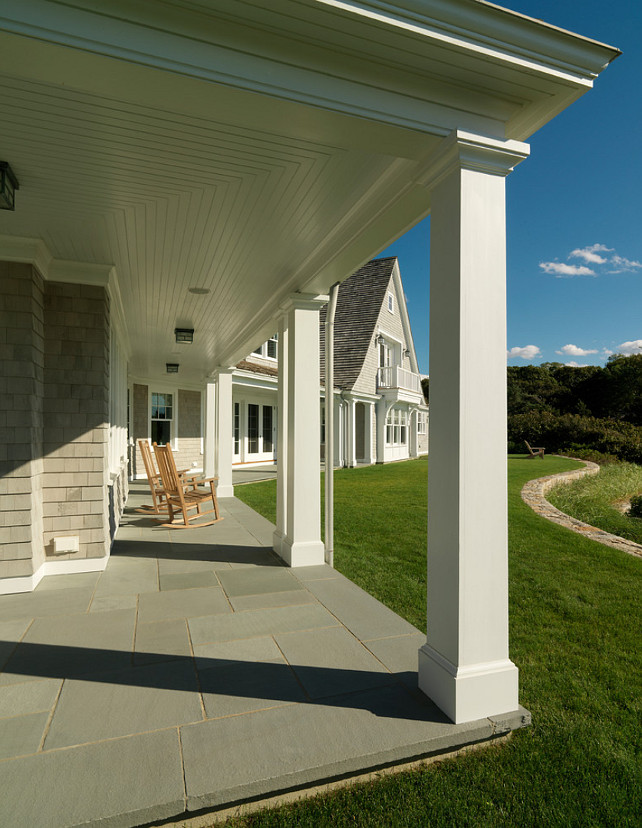 Porch Patio Flooring Ideas. Outdoor Living Area Flooring Ideas. Durable Outdoor Flooring. Porch paving is thermal finish bluestone. Bluestone Hart Associates Architects, Inc.