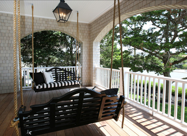 Porch Swing. Porch swing ideas. #Porch #PorchSwing #Swing