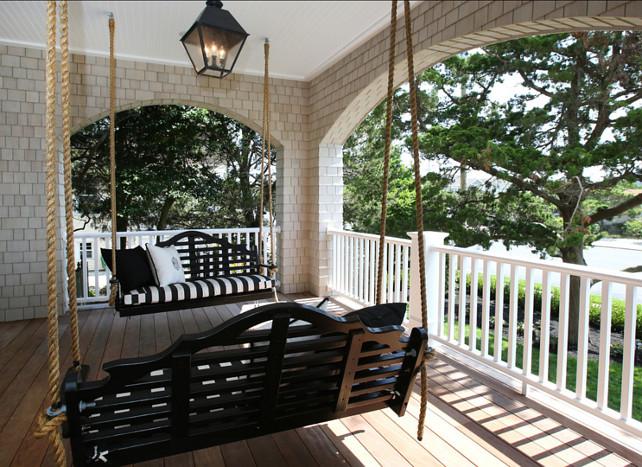 Porch Swing. Porch swing ideas. #Porch #PorchSwing #Swing