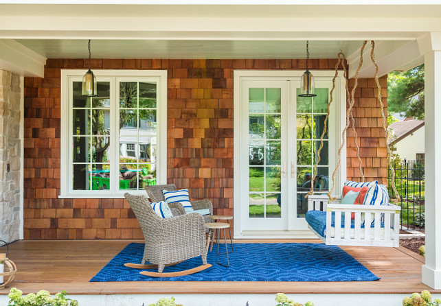 Porch Swing. Porch swing sitting area. Front Porch with swing sitting area ideas. #FrontPorch #Porch #Swing #FrontPorchSwing Great Neighborhood Homes.