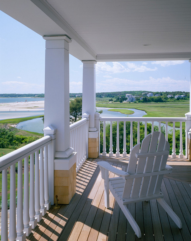 Porch with ocean view. #porch #oceanview Polhemus Savery DaSilva.