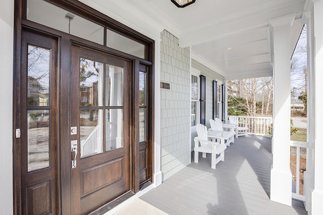 Porch. Beach House front porch. Shingle beach house front porch. Inspiring beach house front porch. #Porch #BeachHouse #BeachHousePorch #FrontPorch