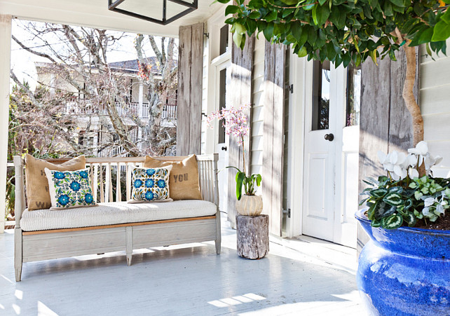 Porch. Front Porch Decor. Summer Front Porch Decor Ideas. Summer Front Porch Decorating Ideas. #Porch #FrontPorch #Decor Cortney Bishop Design