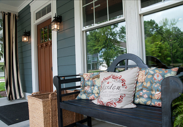Porch. Front Porch. Front porch decor ideas. #Porch #FrontPorchDecor #PorchDecor Designed by Everything Home by Wendy Langston.