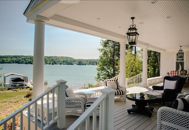Porch. Porch Ideas. Coastal Porch with inspiring patio furniture. #Porch #PatioFurniture #Porch #CoastalPatioIdeas