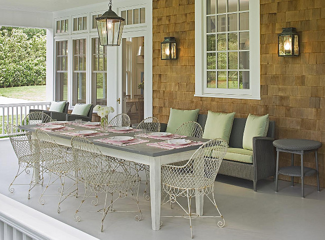 Porch. Porch Ideas. Porch Furniture. Back Porch Decorating Ideas. #Porch #BackPorch #PorchFurniture John Hummel & Associates.